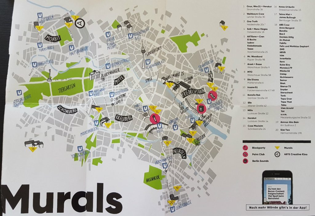 Berlin Mural Fest Maps
