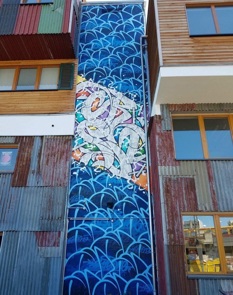 Holzmarkt Berlin Mural Fest Friedrichshain AKTEone & Cren