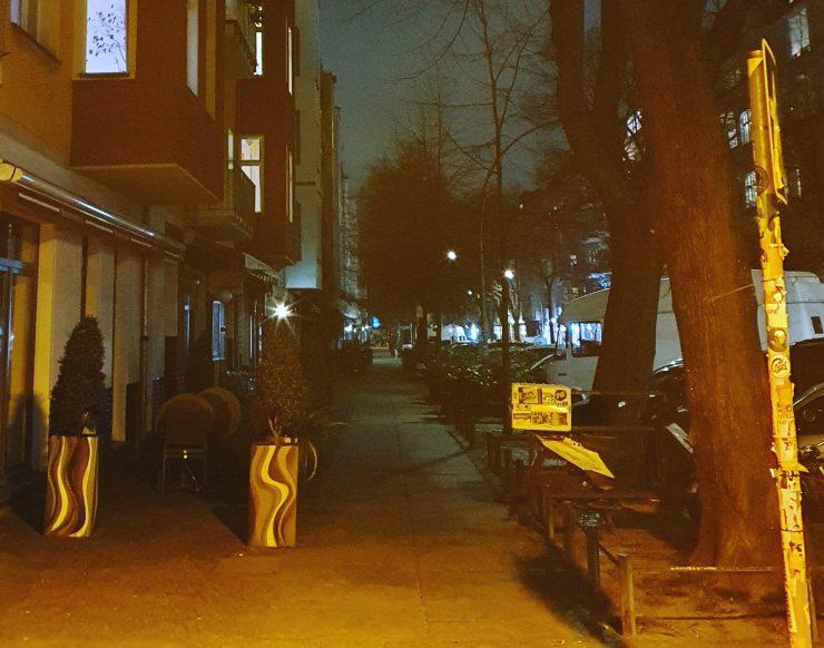Simon-Dach-Straße Berlin März 2020 Shutdown Corona Pandemie